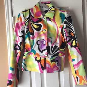 David Meister Multi-color Jacket SZ 8